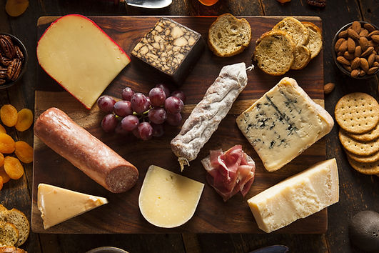 Fancy Meat and Cheeseboard with Fruit as