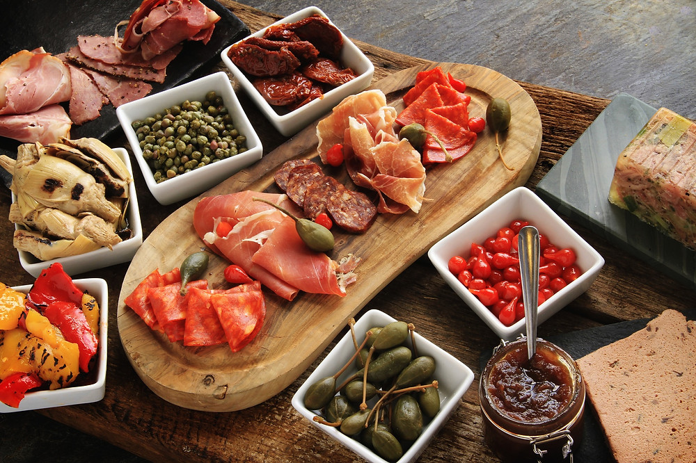 Charcuterie selections on Sunday