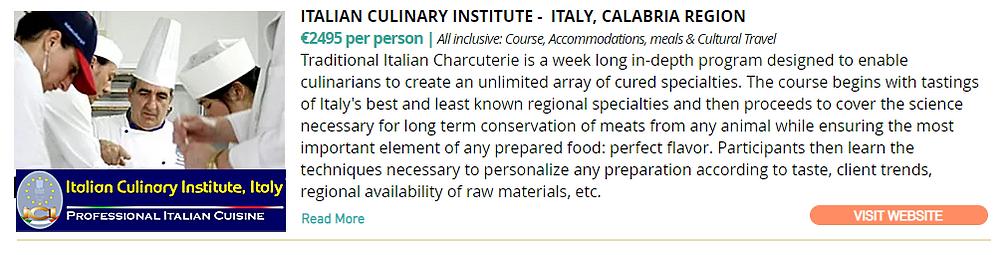 Italian Culinary Institute - Classes - Italy -Traditional Itatian Charcuterie