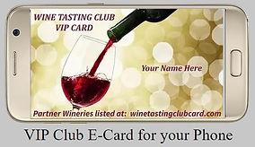 Wine Tasting Club E-Card for phones