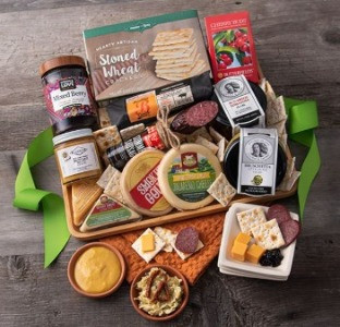 Carefully selected assortment of gourmet meats, artisan cheeses, crackers, and antipasto items.
