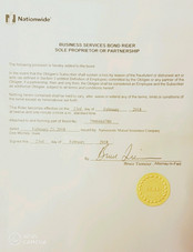certificate of Being Bonded