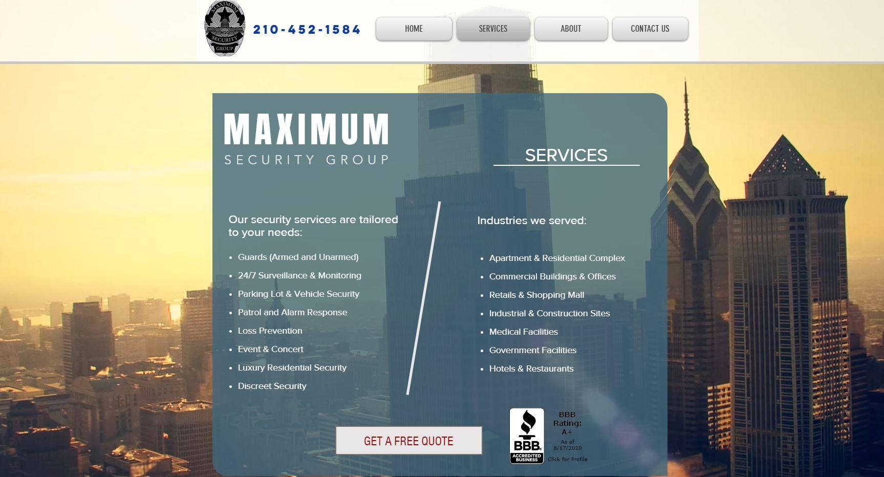 Maxium Security