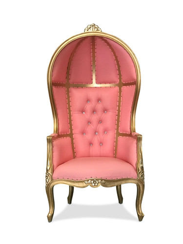 Pink/Gold Porter Chair