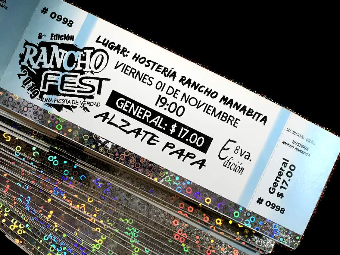 Tickets con Seguridad Holográfica