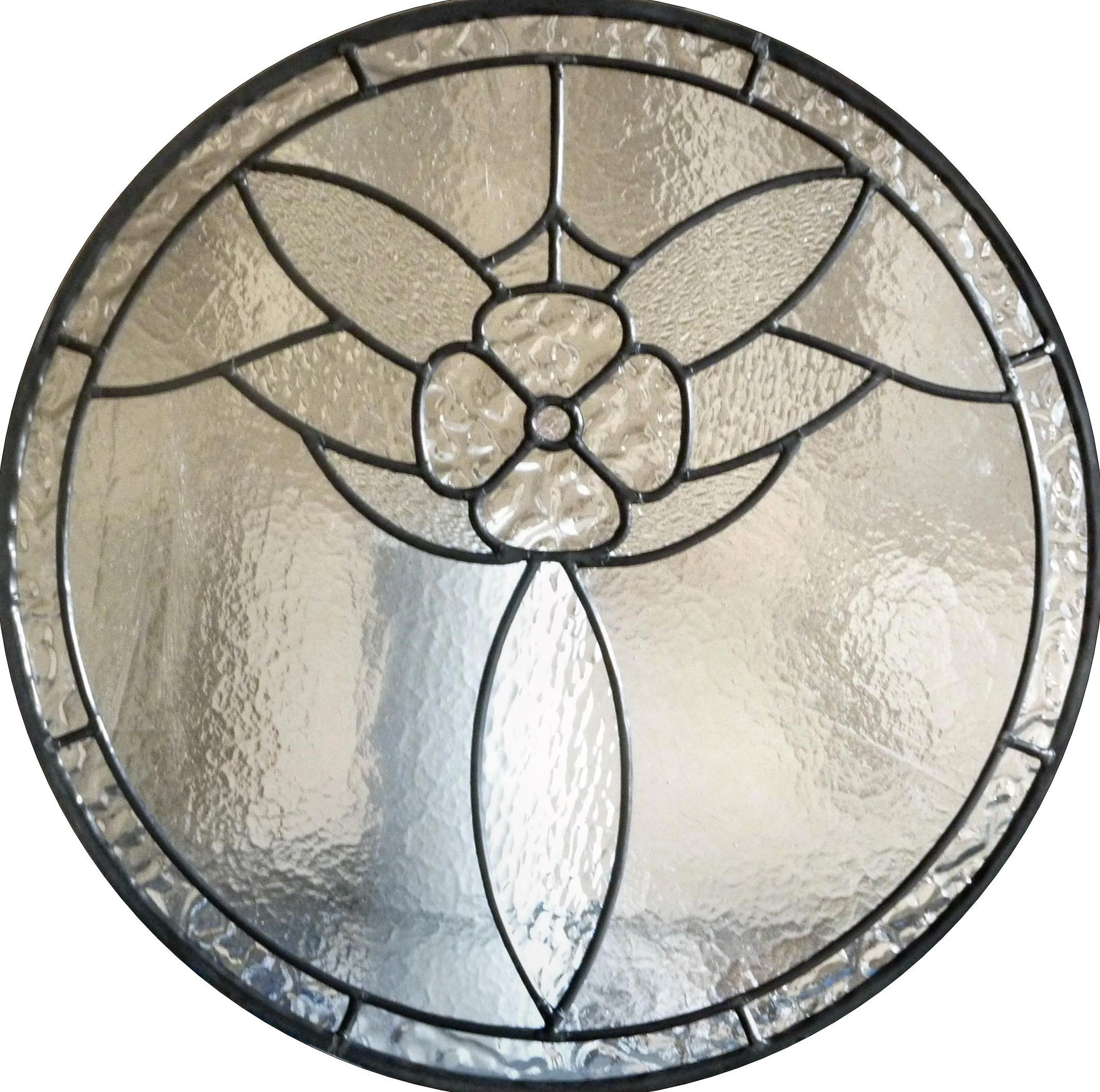 circular clear textures flower