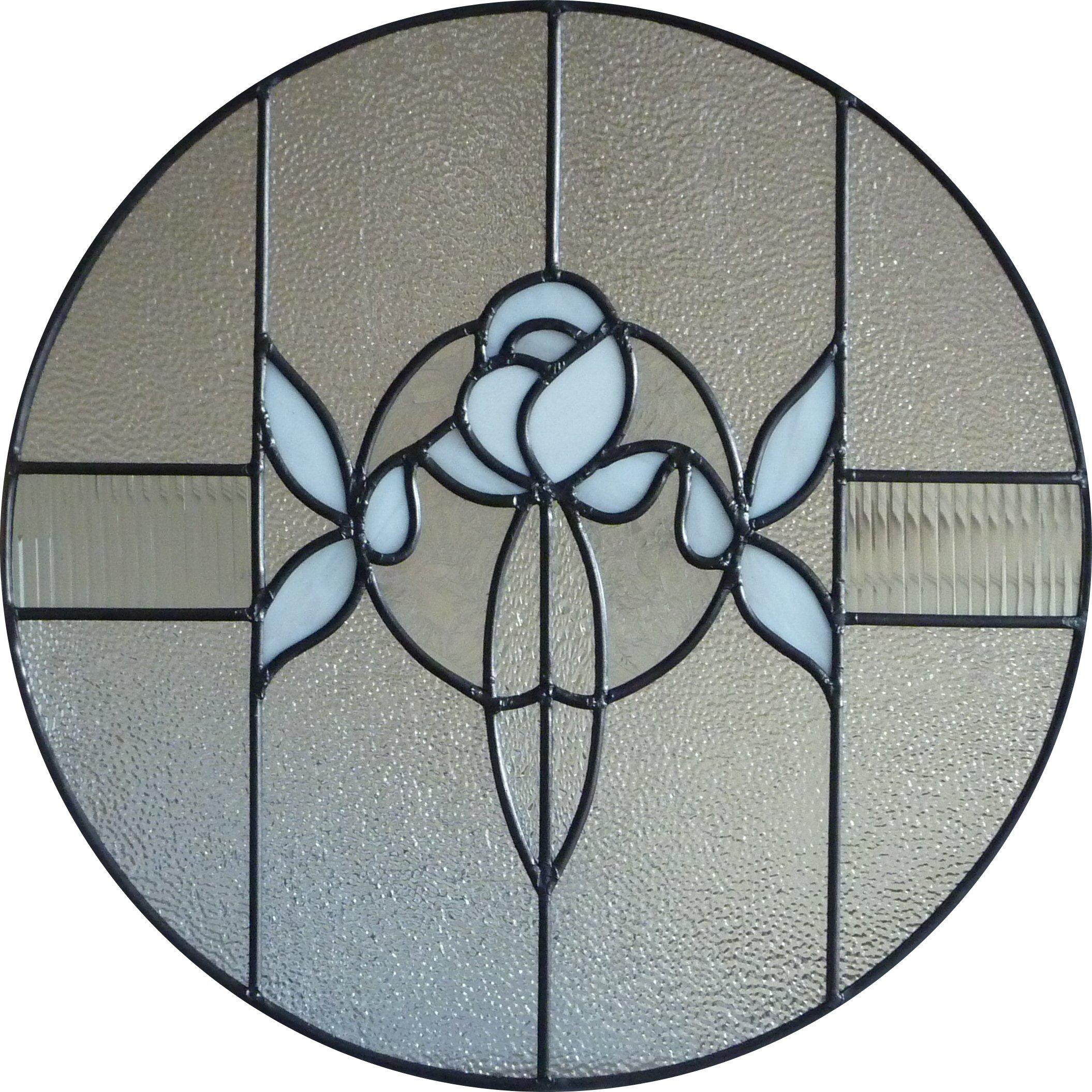 CIRCLE WHITE ROSE