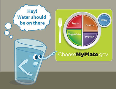 Put water on MyPlate cartoon.jpg