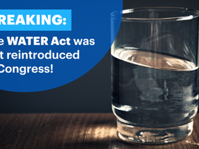 WATER Act Re-Introduced Today in Congress