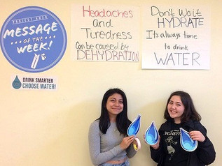 Teens Research the Impact of Signage and Positive Messaging on School Water Intake