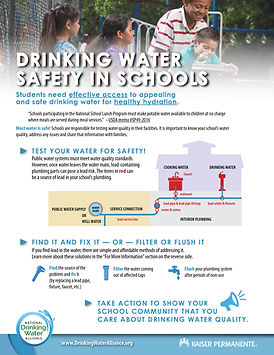 Drinking Water Safety in Schools fact sheet