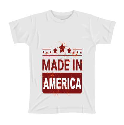 White T-Shirt-Made in America