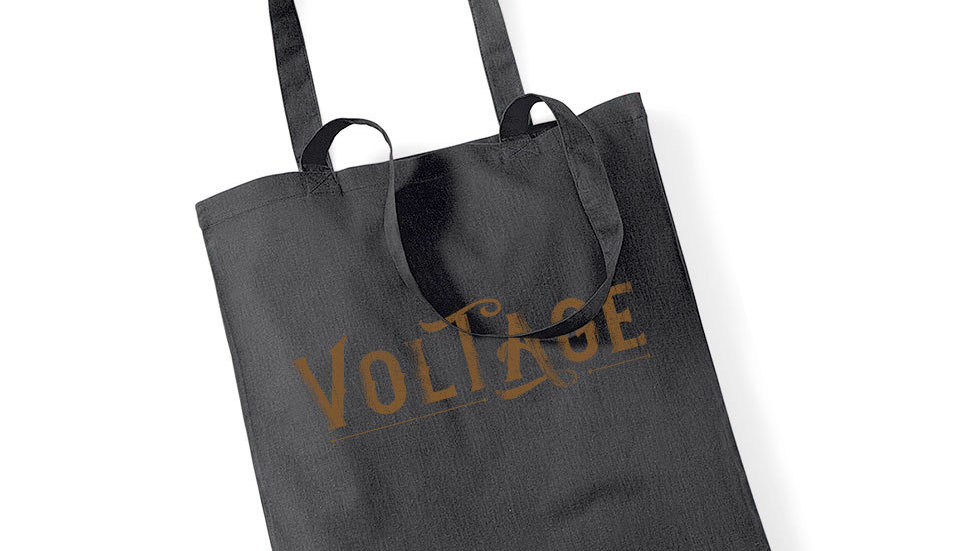 Tote-bag Voltage Logo Black