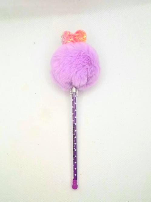Purple Princess Pom-Pom Pen