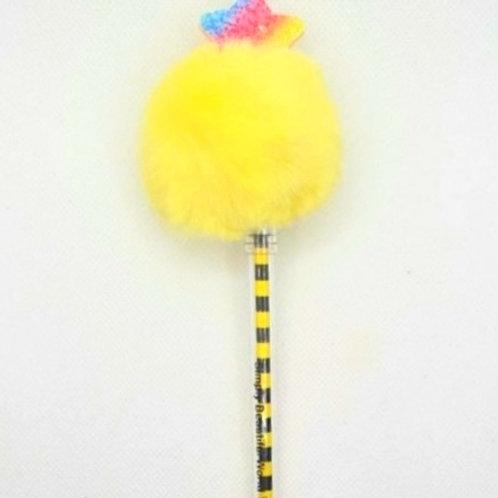 Yellow Princess Pom-Pom Pen