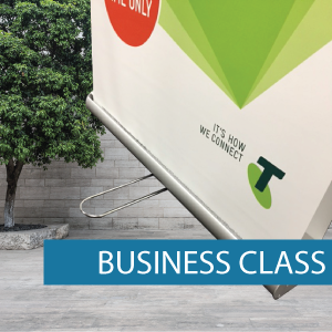 Business class double sided pullup banner