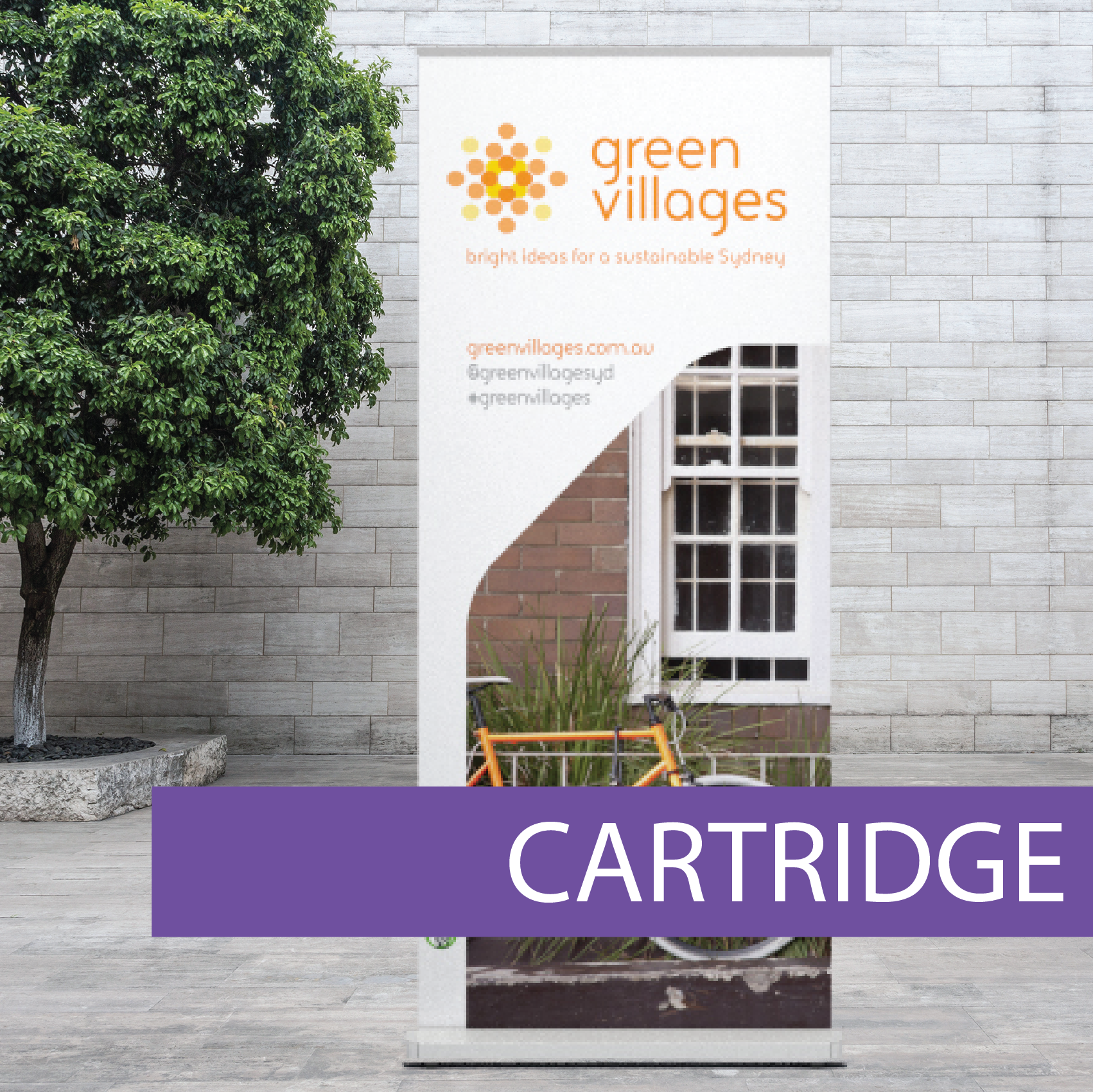 Icon - Bworld - Pull-up Banner - Cartridge (Green Villages)