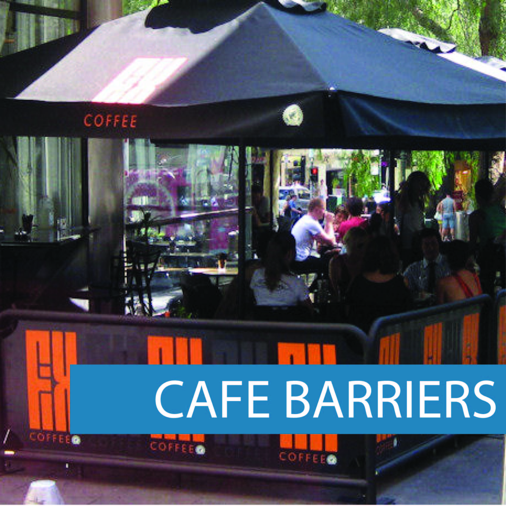 Outdoor cafe barriers GY