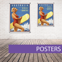 Wall poster qantas