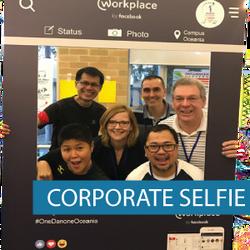 Corflute - Selfie Frame - Corporate Self