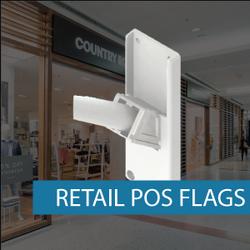 Retail POS flag pole set fitting