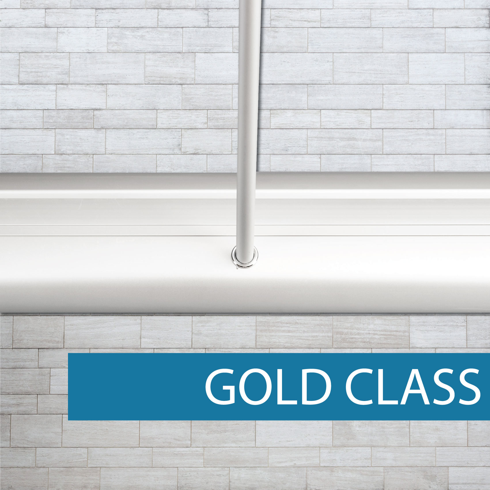 Gold Class pull-up banner pole set