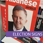 Electoral and political signage