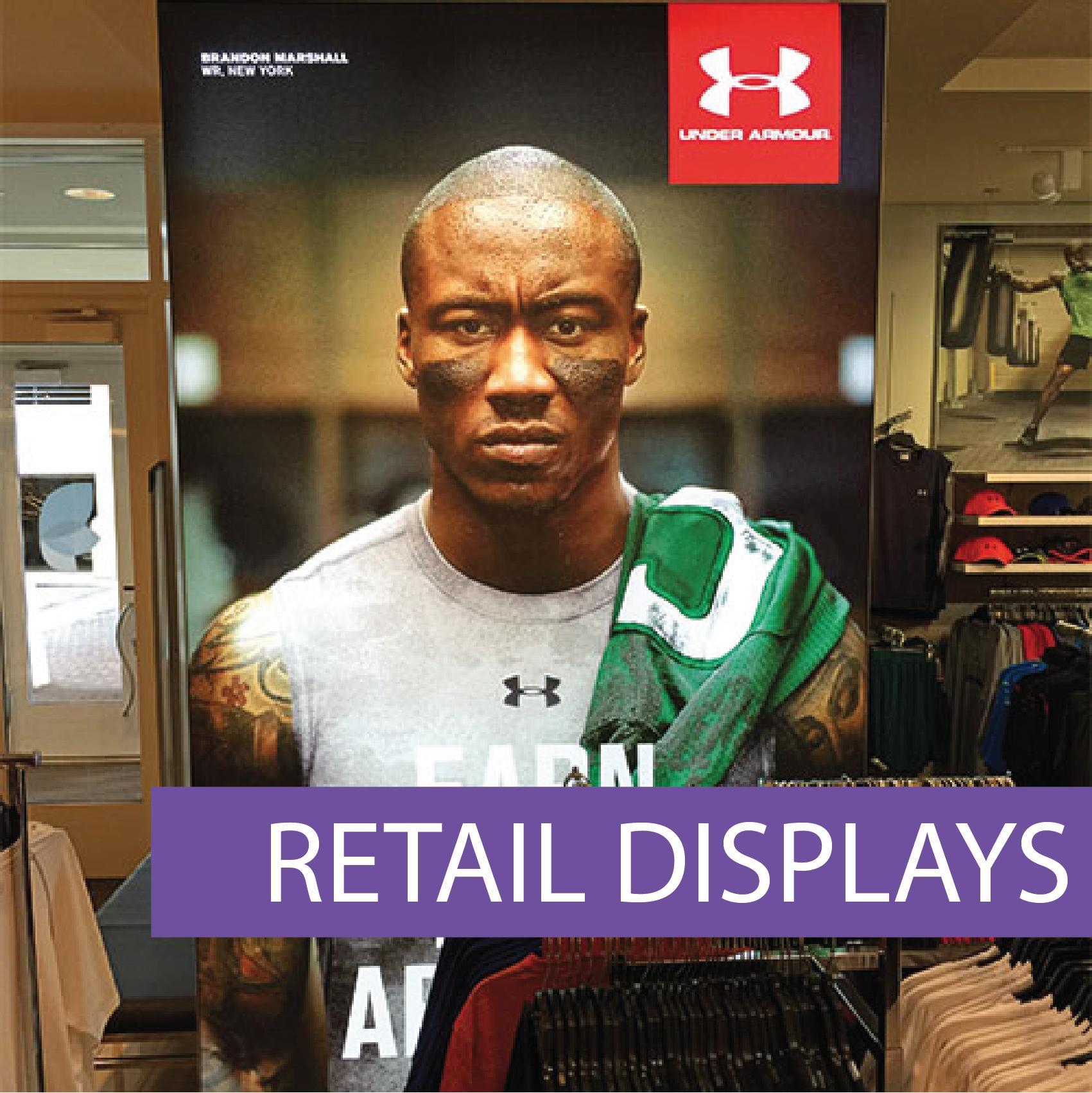 Matrix frame retail displays