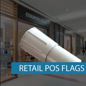 Retail POS Flag Pole