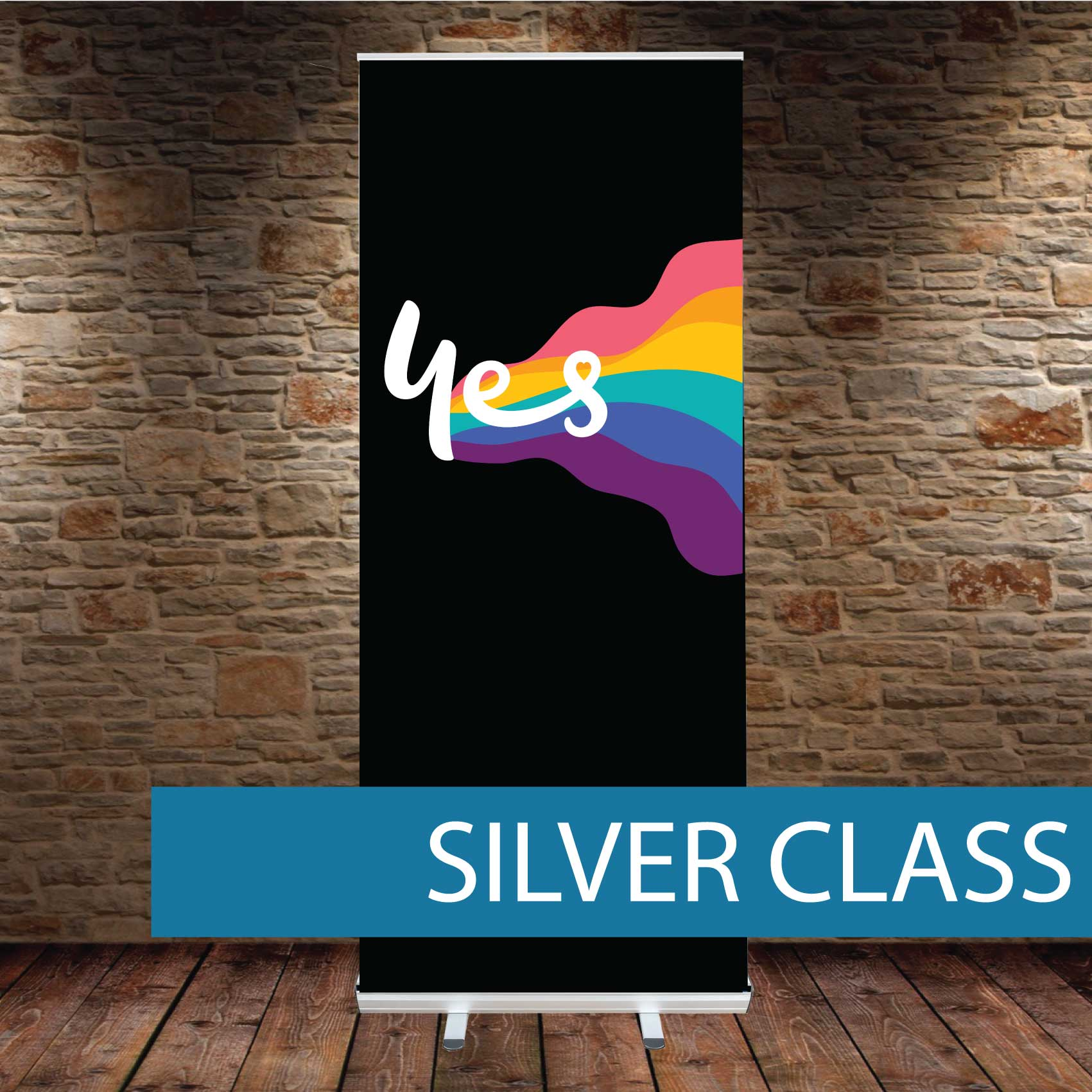 Silver class Pull up Banner