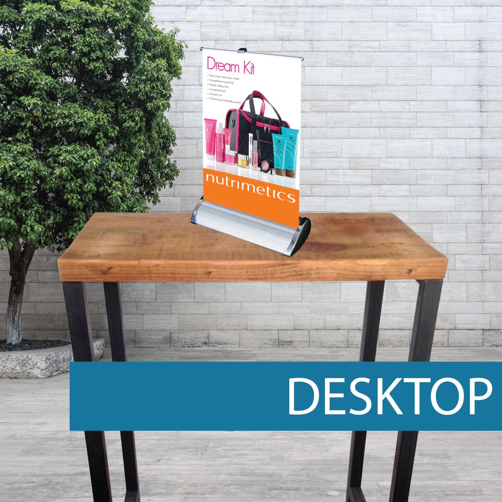 Desktop pullup banner