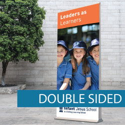 Double sided pull-up banner