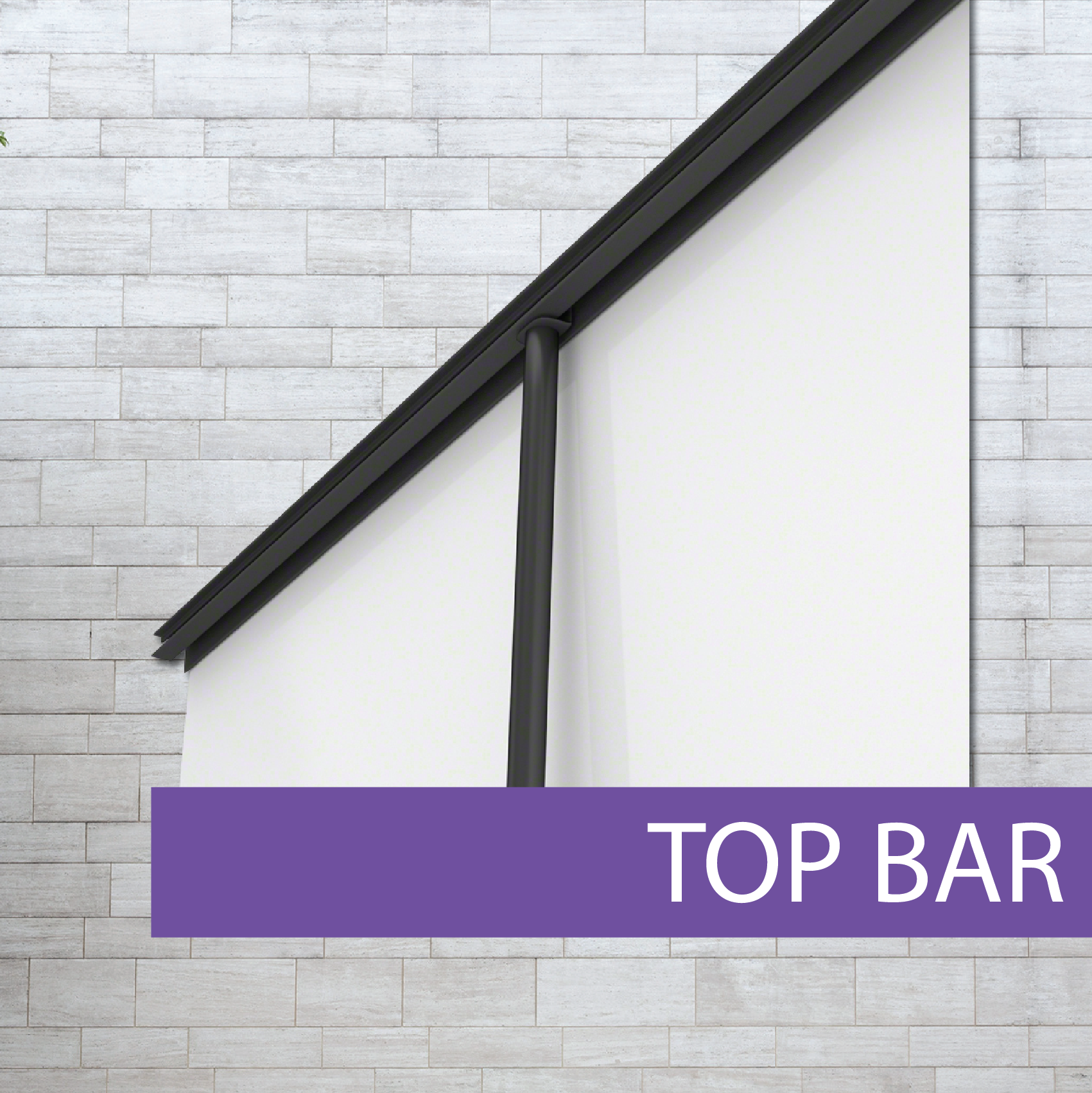 Platinum Pull-up banner top bar