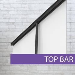 Platinum Pull-up banner top bar