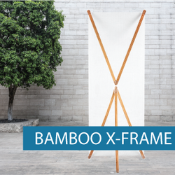 Portable Display - X-Frame - Bamboo 1
