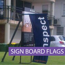 Icon - Real Estate - Sign Board Flags- B