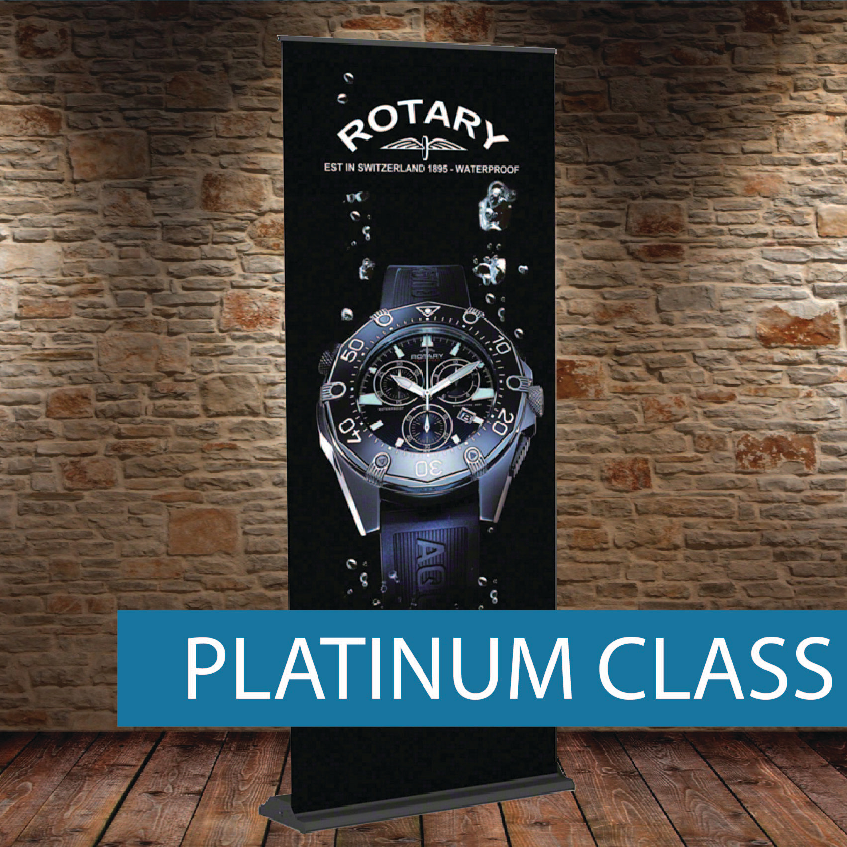 Platinum Class pull-up Banner