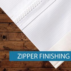 Outdoor Media - Finishing - Zipper Finis