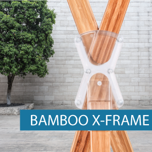 Portable Display - X-Frame - Bamboo 2