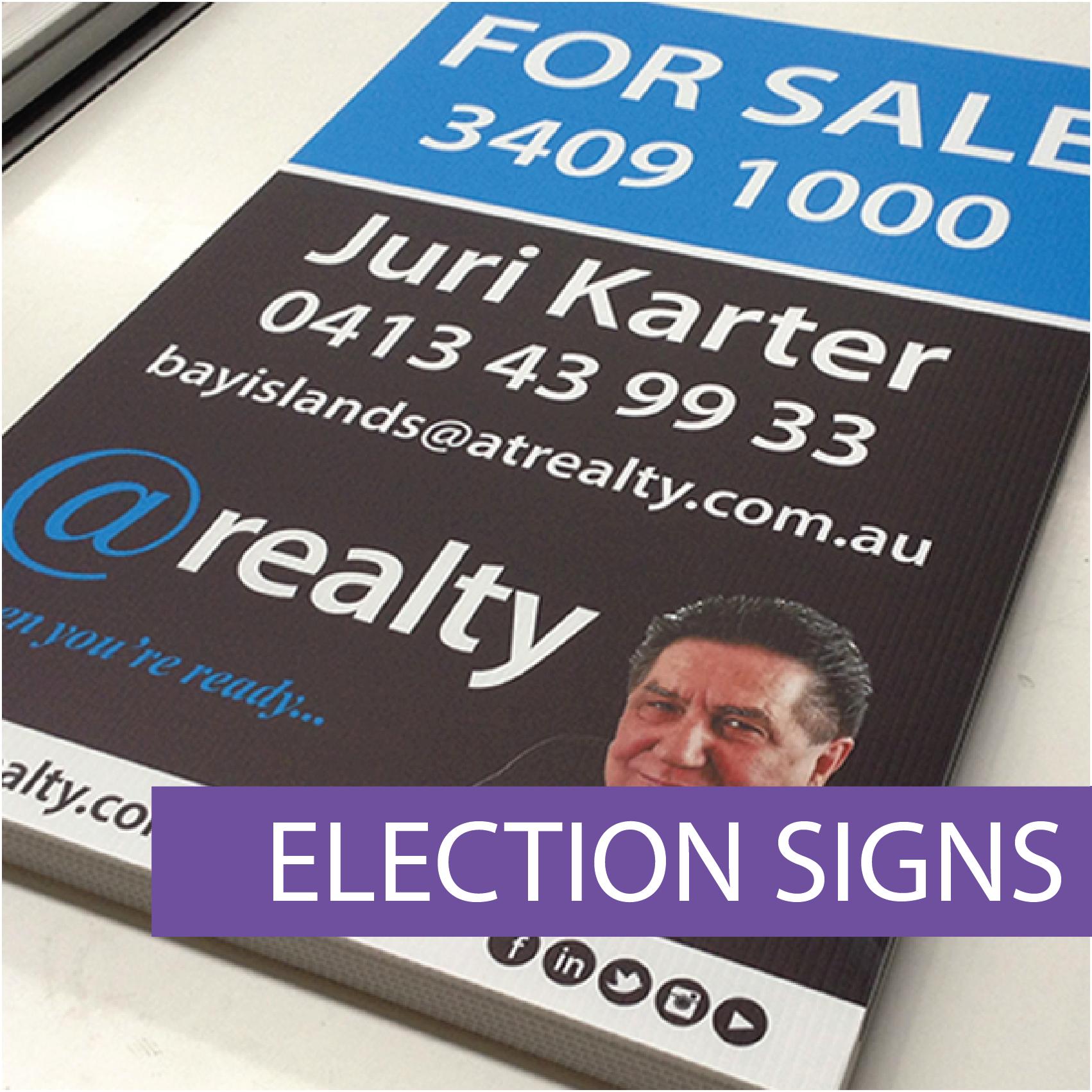 Electoral signs