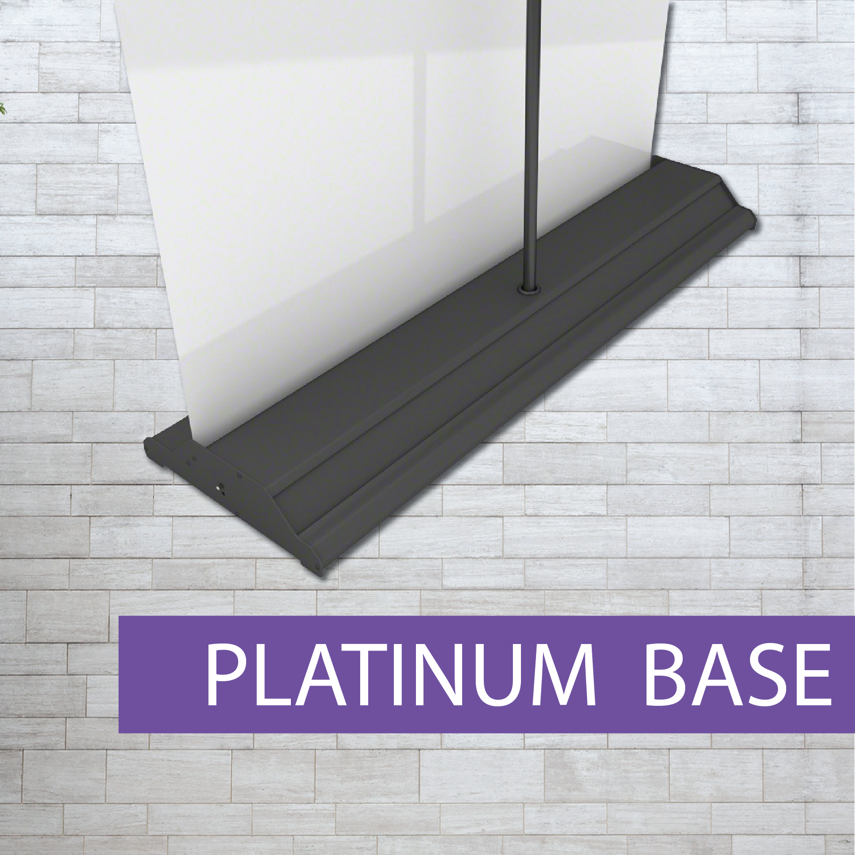 Platinum class pull-up banner rear