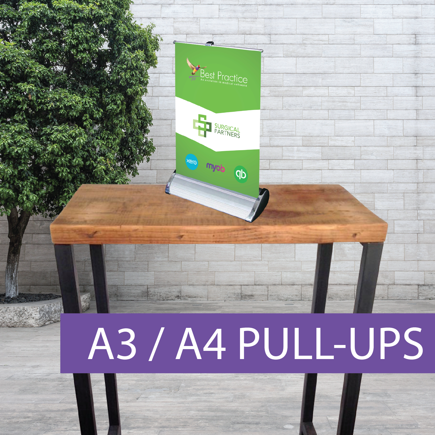 A4 Pull-up banner