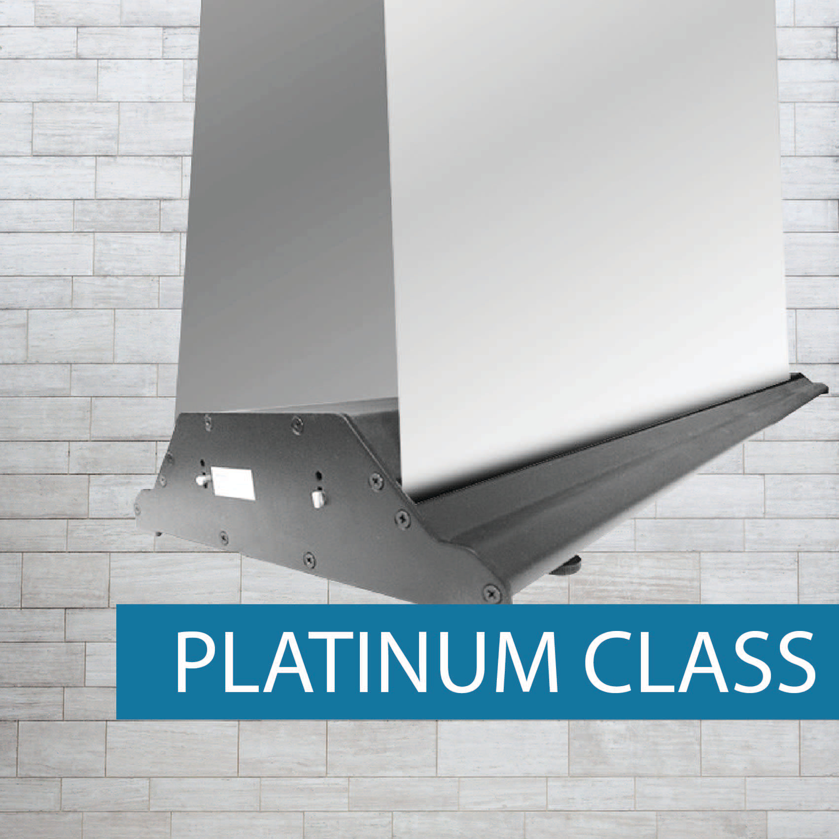 Platinum double sided pullup banner