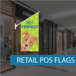 Wall flags for pet shop