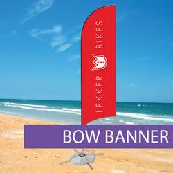 Custom printed bow flag