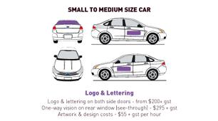 Vehicle Wrap - Small to Medium - Basic -