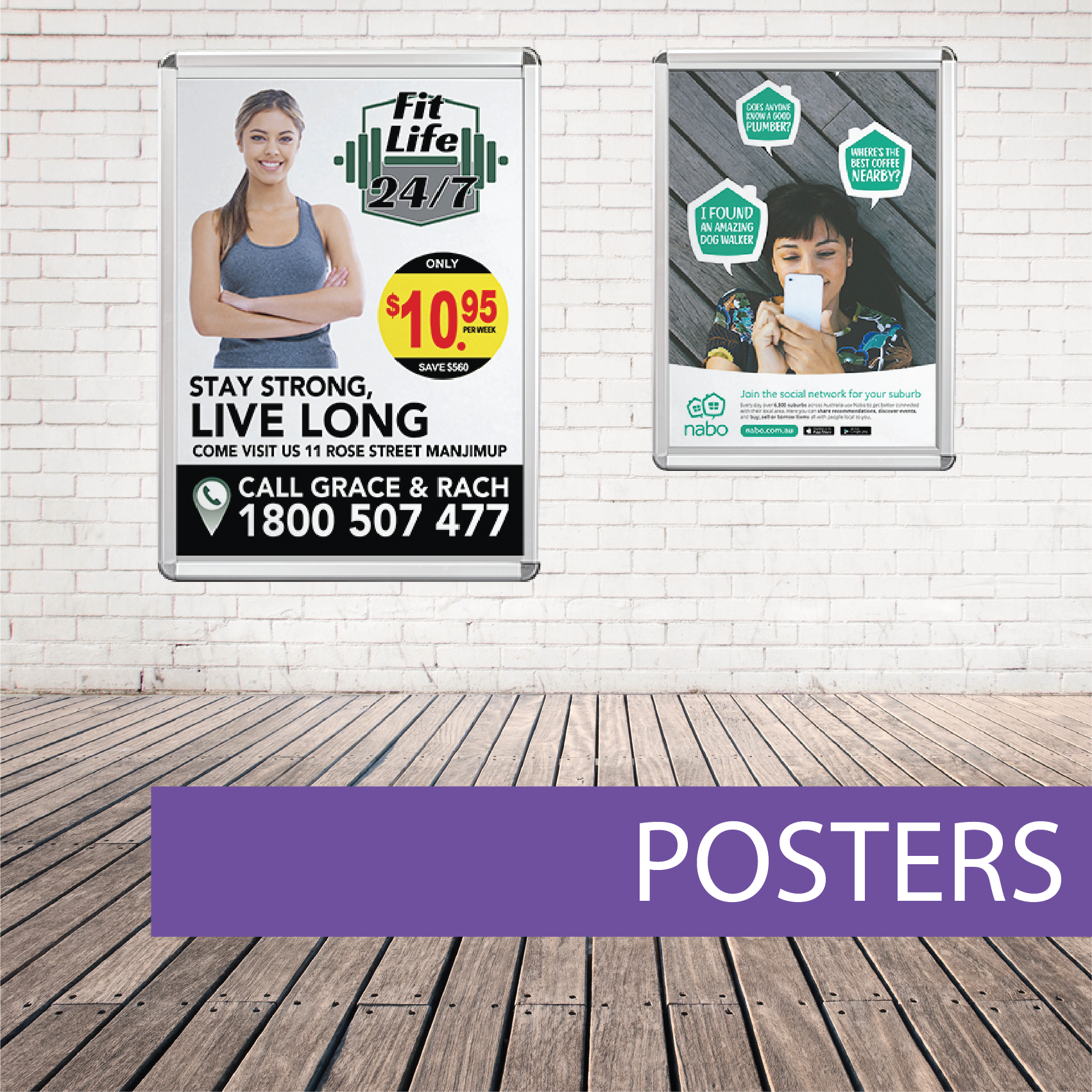 Wall posters fitness
