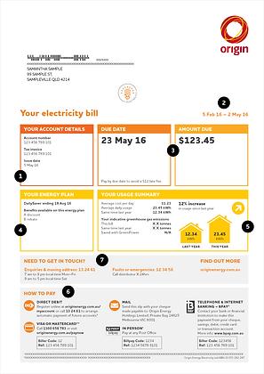 Energy Bill Sample Thirroul Solar