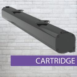 Pullup banner cartridge