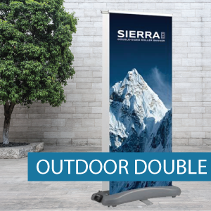 Outdoor pull-up banner